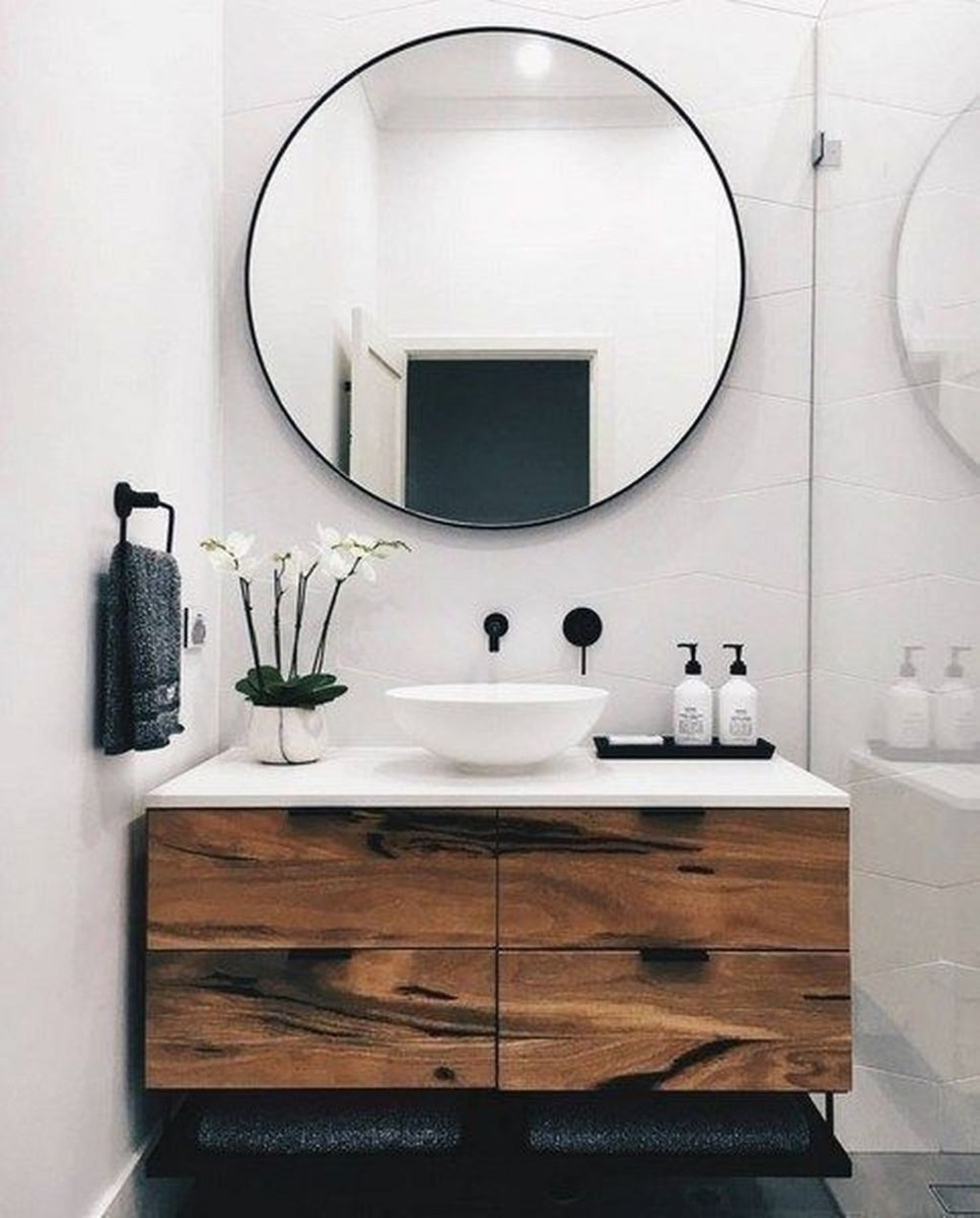 Stunning Bathroom Mirror Decor Ideas 16