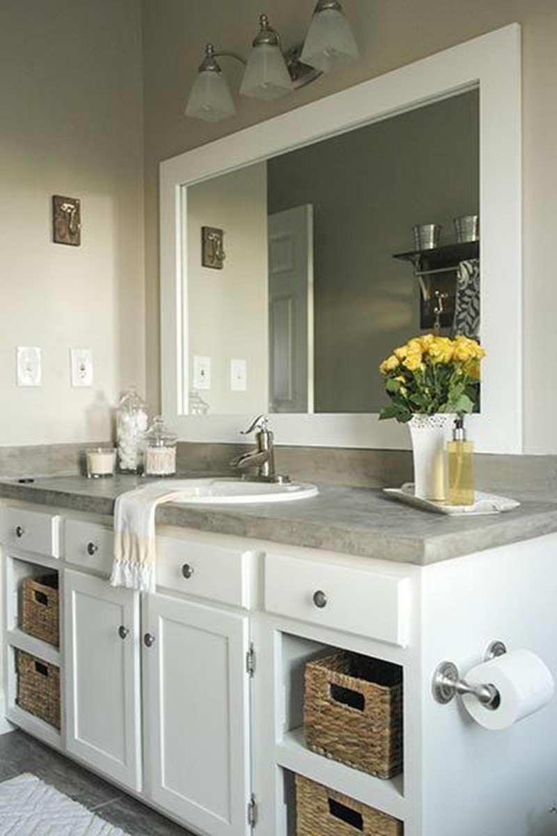 Stunning Bathroom Mirror Decor Ideas 37
