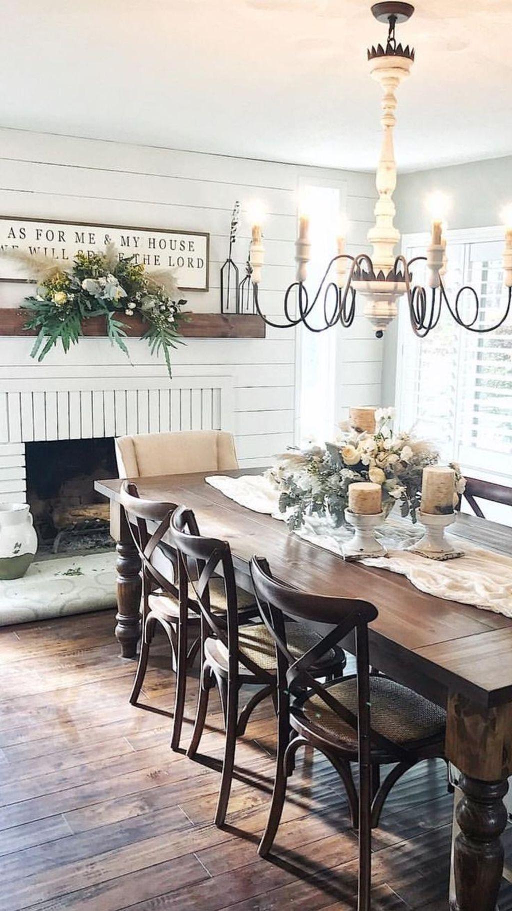Stunning Farmhouse Dining Room Decoration Ideas 02