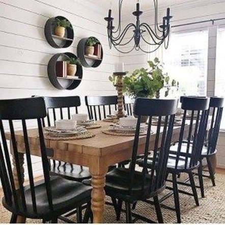 Stunning Farmhouse Dining Room Decoration Ideas 08