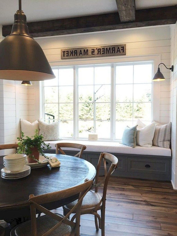 Stunning Farmhouse Dining Room Decoration Ideas 11