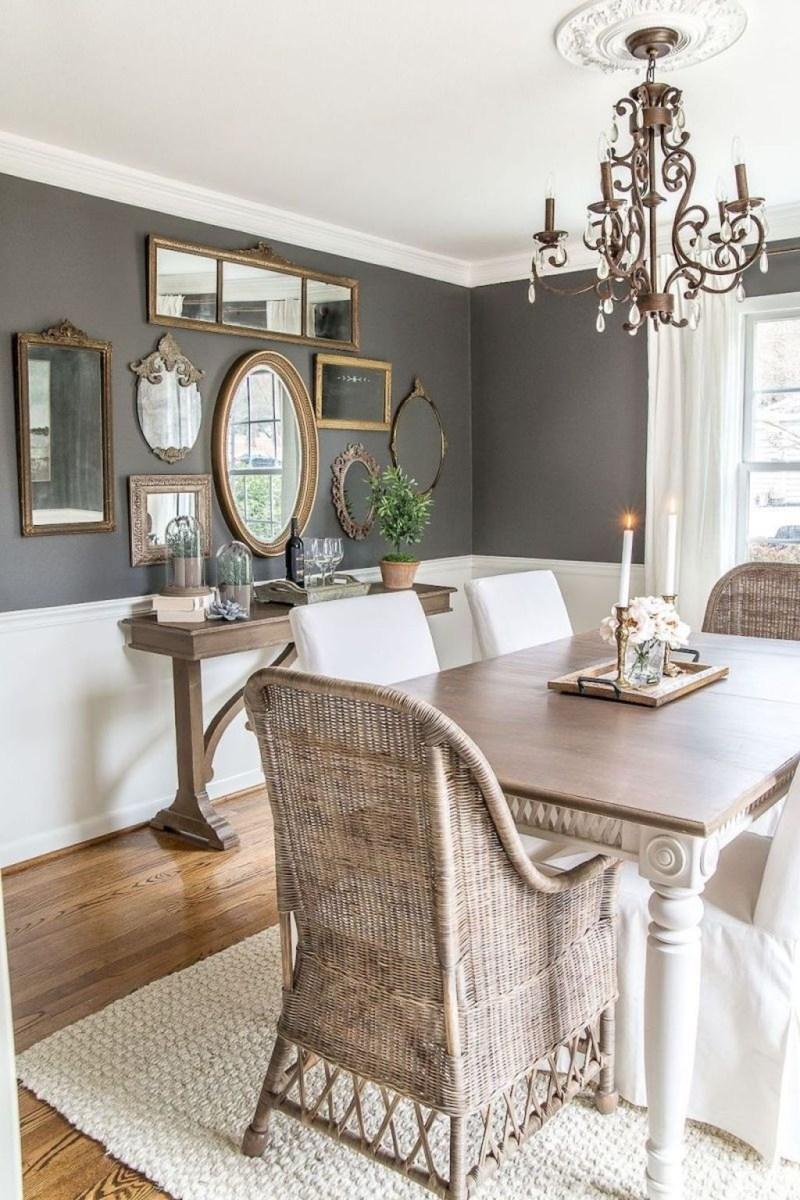 Stunning Farmhouse Dining Room Decoration Ideas 15