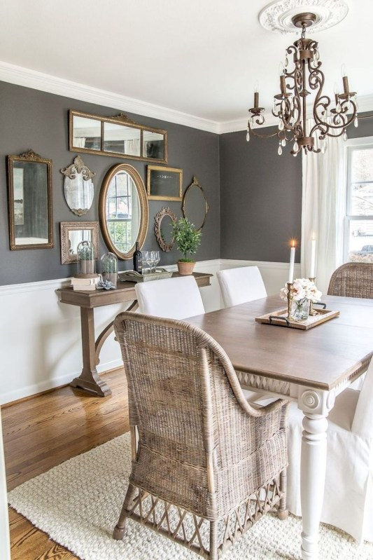 Stunning Farmhouse Dining Room Decoration Ideas 15