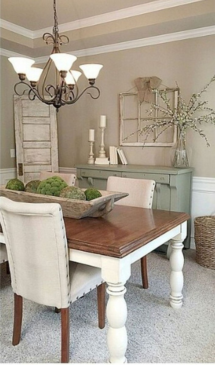 Stunning Farmhouse Dining Room Decoration Ideas 29