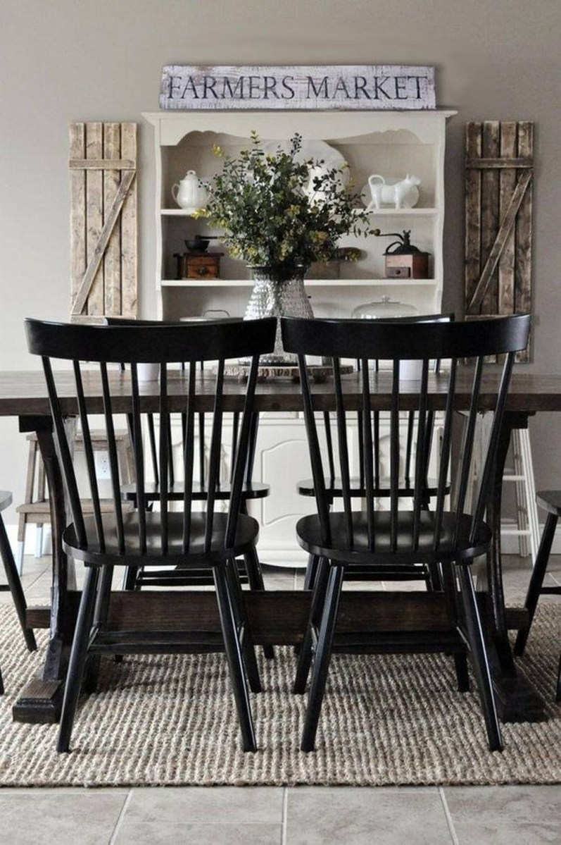 Stunning Farmhouse Dining Room Decoration Ideas 31