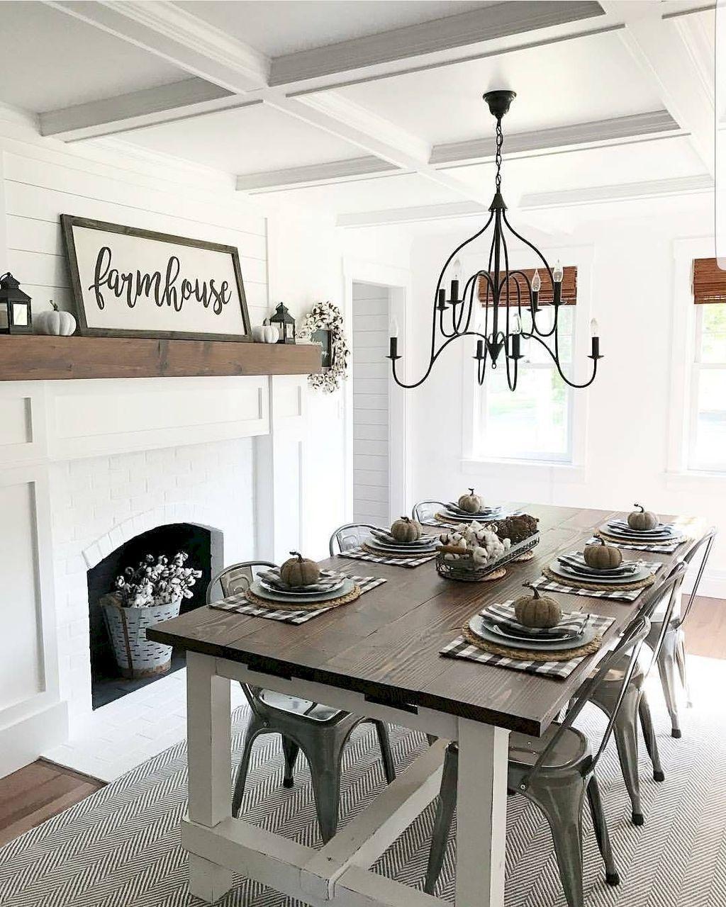 Stunning Farmhouse Dining Room Decoration Ideas 34