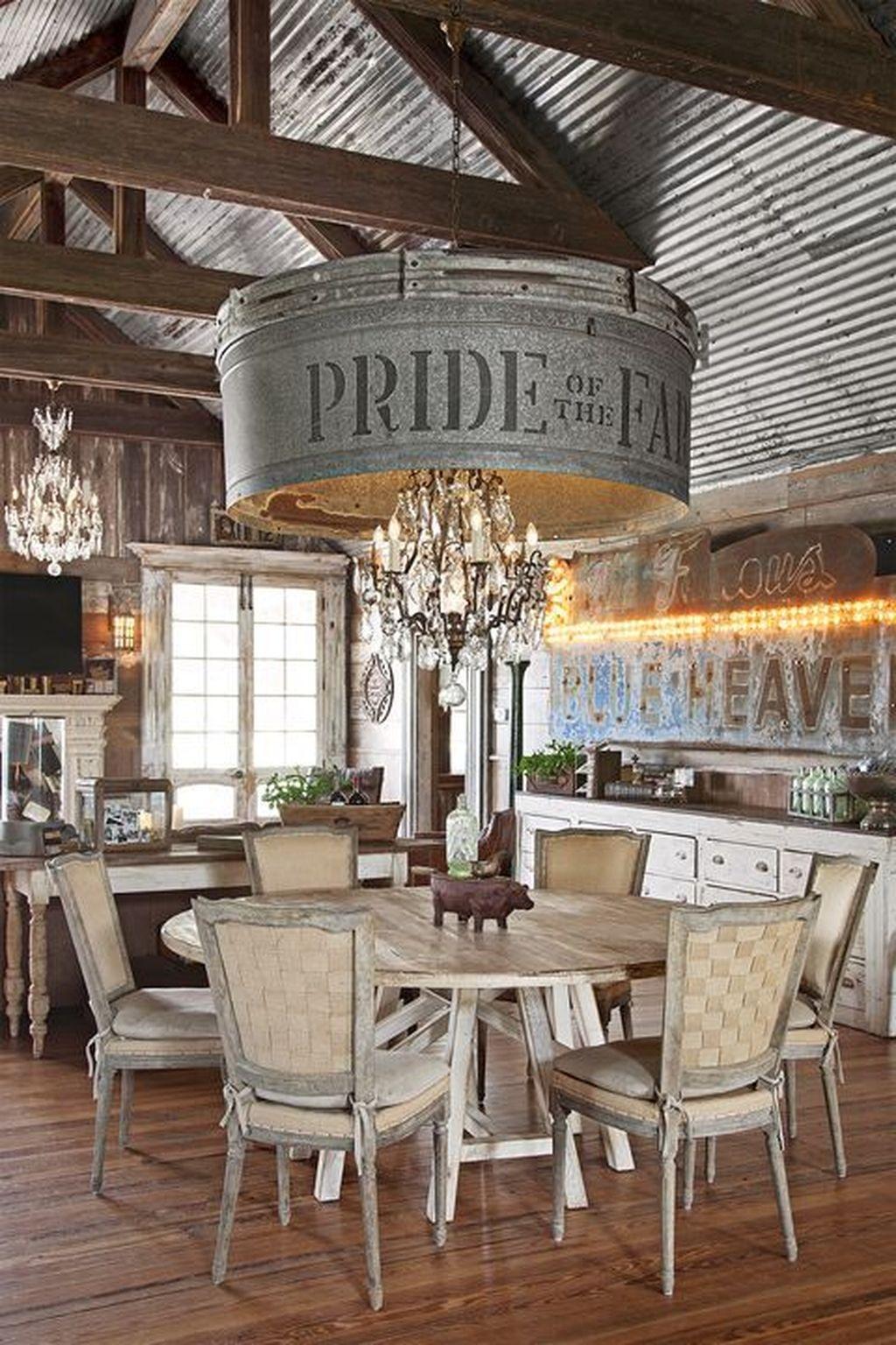 Stunning Farmhouse Dining Room Decoration Ideas 37