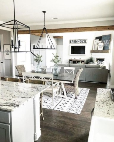Stunning Farmhouse Dining Room Decoration Ideas 40