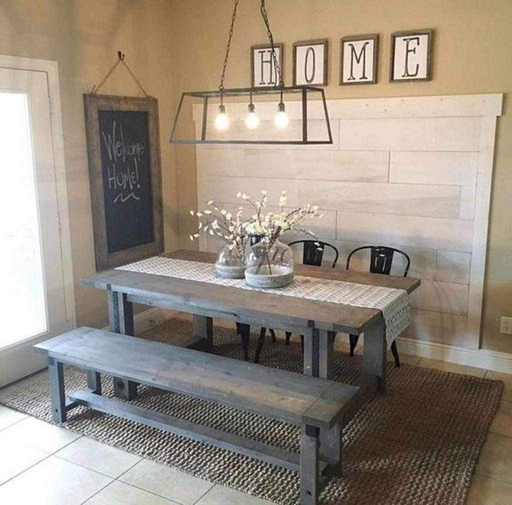 Stunning Farmhouse Dining Room Decoration Ideas 48