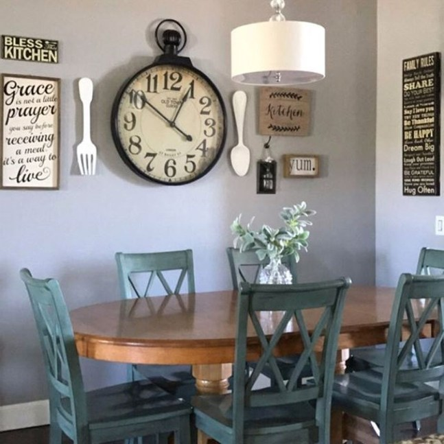 Stunning Farmhouse Dining Room Decoration Ideas 49