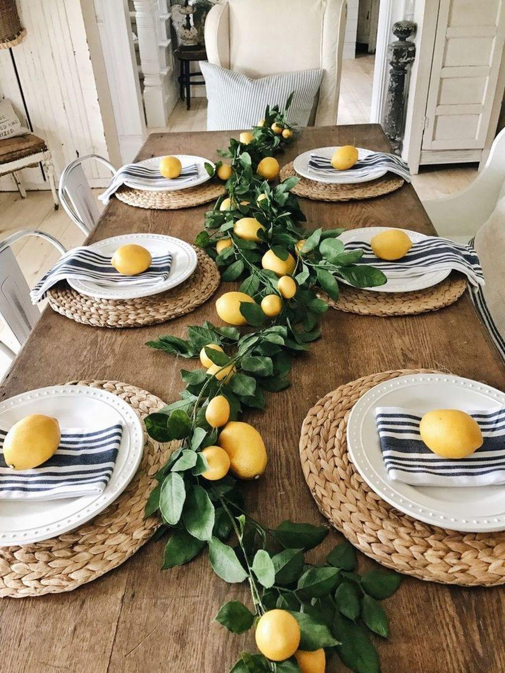 Stunning Farmhouse Dining Room Decoration Ideas 50