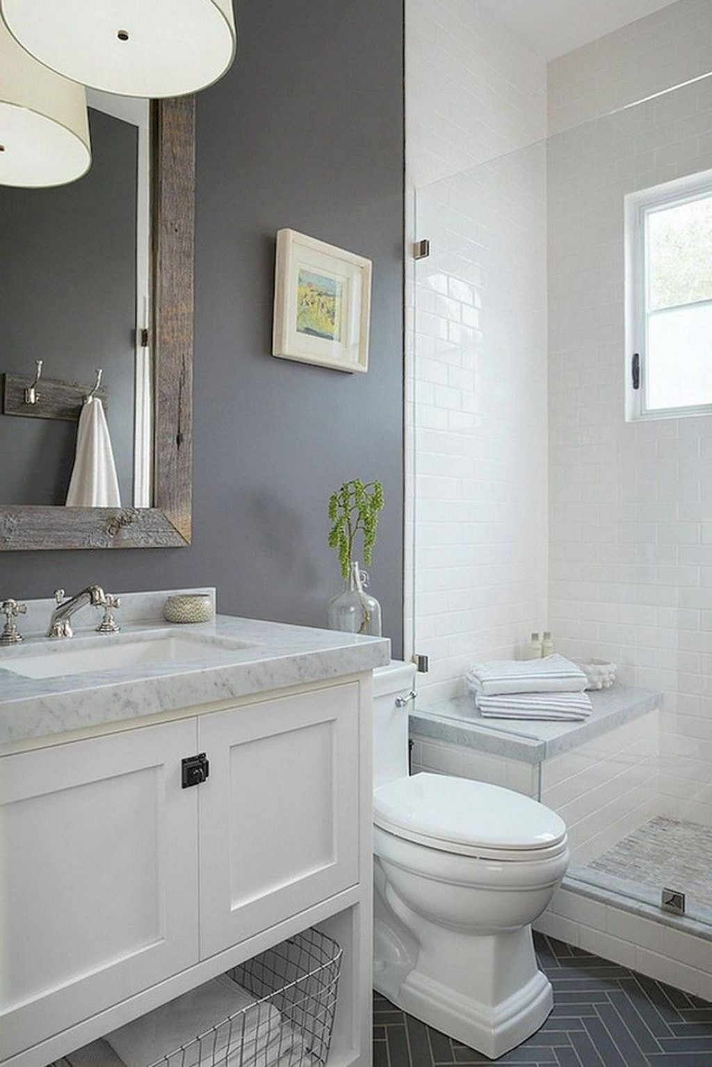 Totally Adorable Small Bathroom Decor Ideas 36