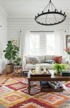 The Best Bohemian Farmhouse Decorating Ideas For Your Living Room 36