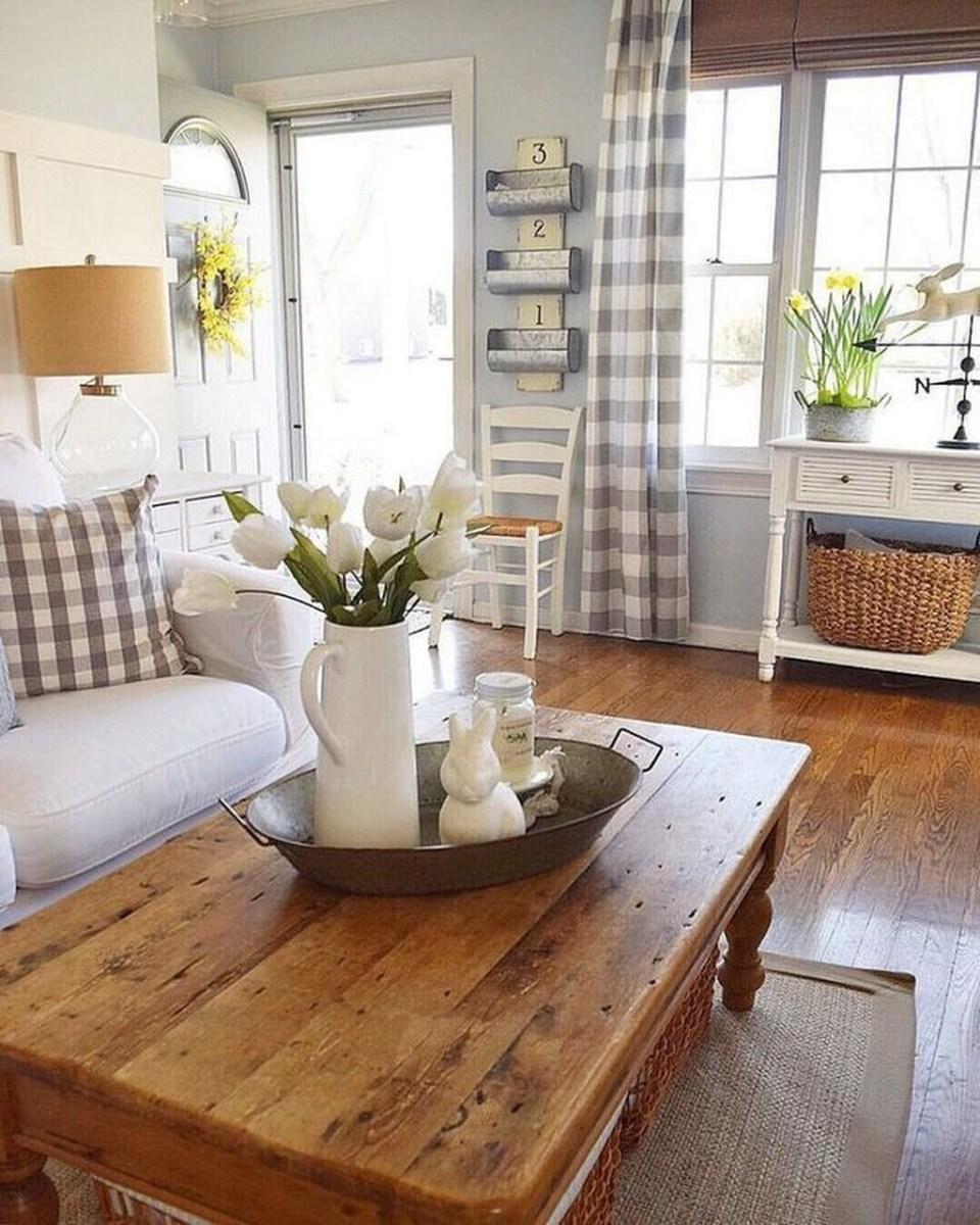 Lovely Easter Living Room Decor Ideas 18