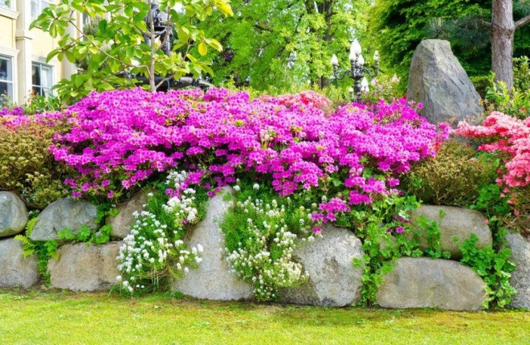 Lovely Small Flower Gardens And Plants Ideas For Your Front Yard 31
