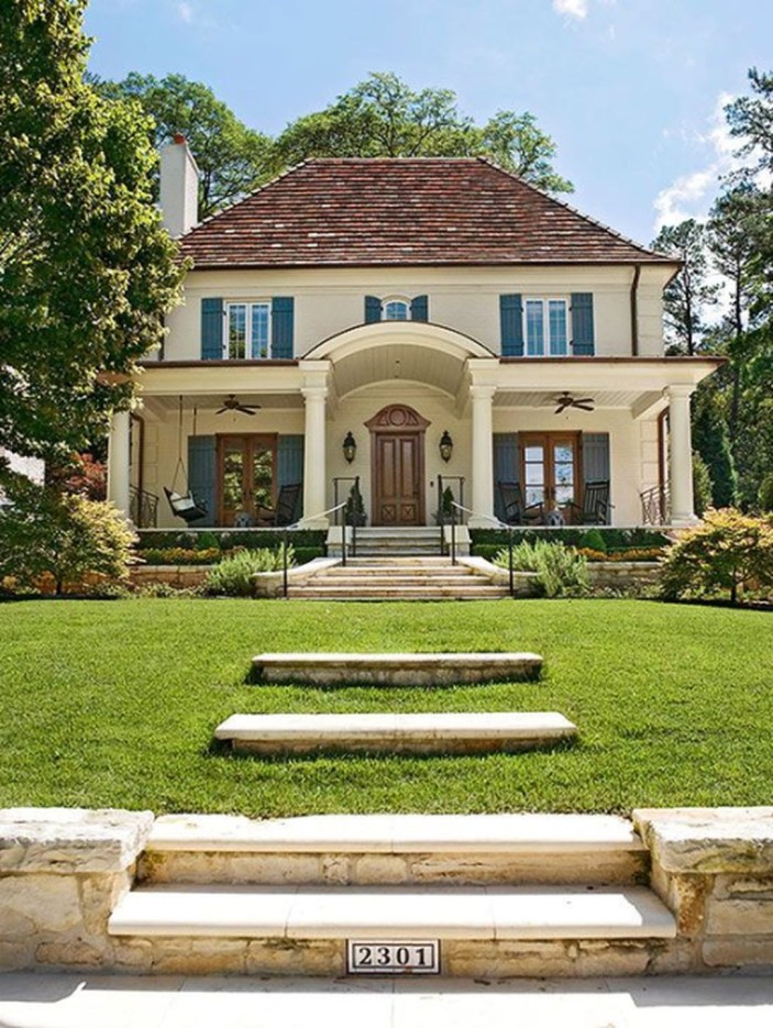 Stylish French Country Exterior For Your Home Design Inspiration 07