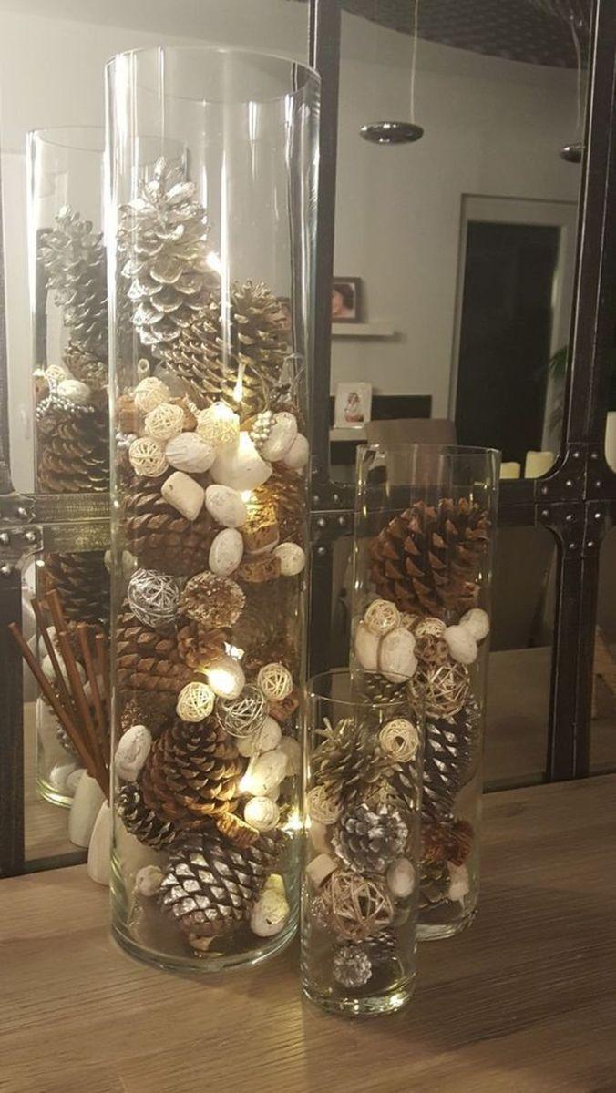 Fabulous Christmas Pine Cone Decorations 48