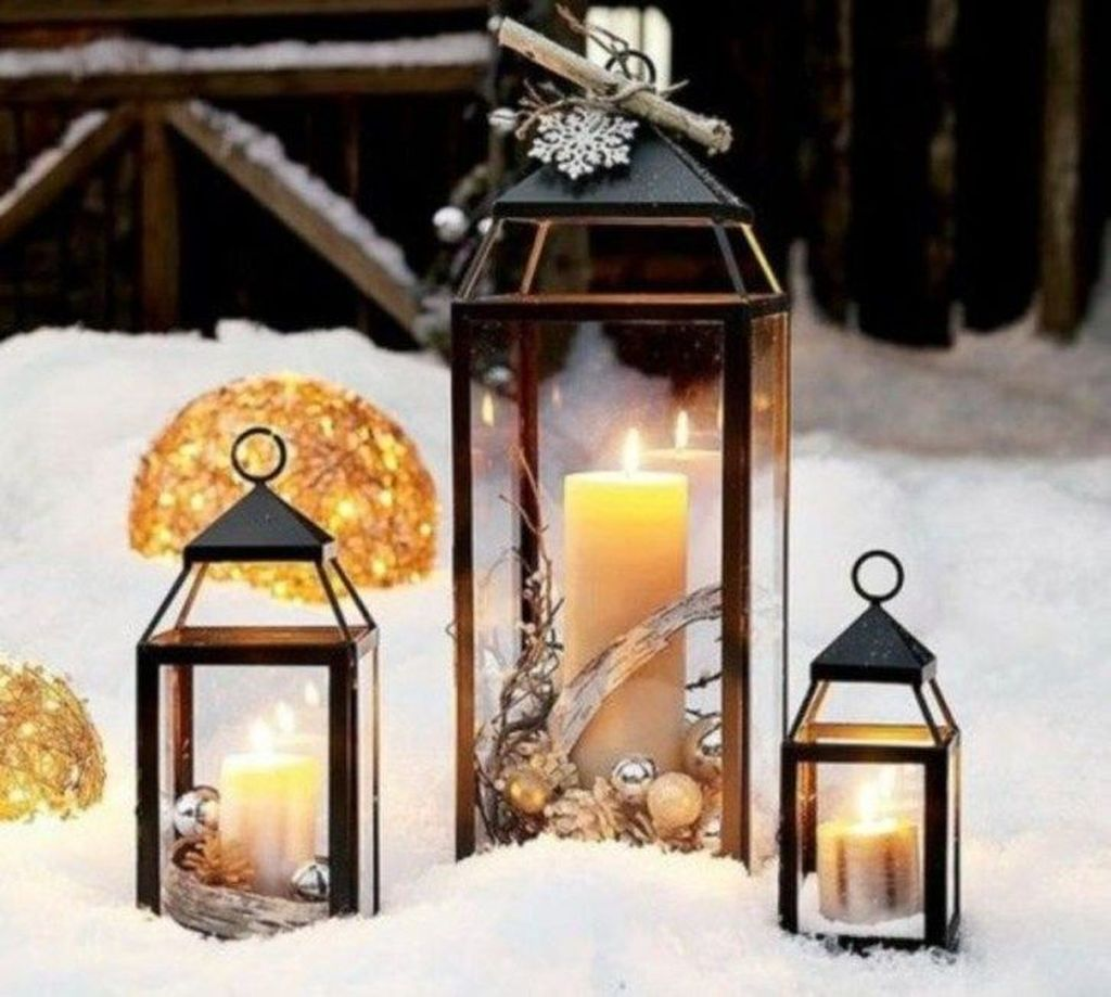 Fabulous Winter Lantern Centerpieces Ideas 09