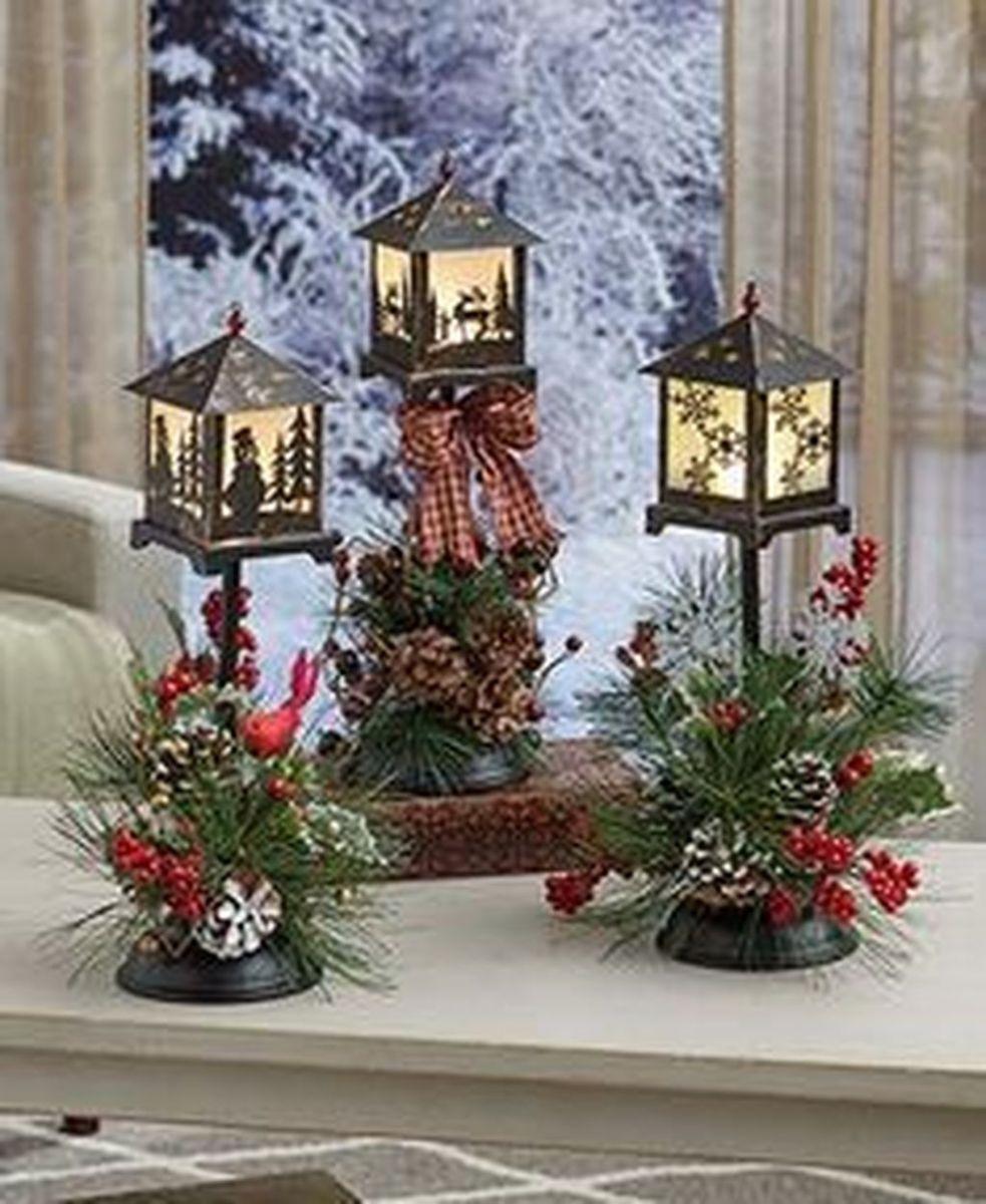 Fabulous Winter Lantern Centerpieces Ideas 33