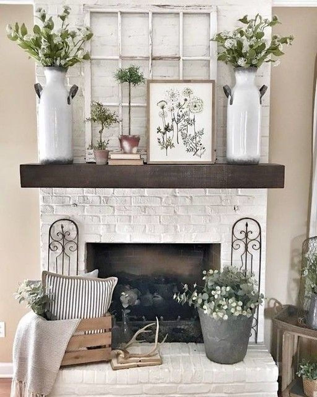 Nice Fireplace Decor Ideas Best For Wintertime 12