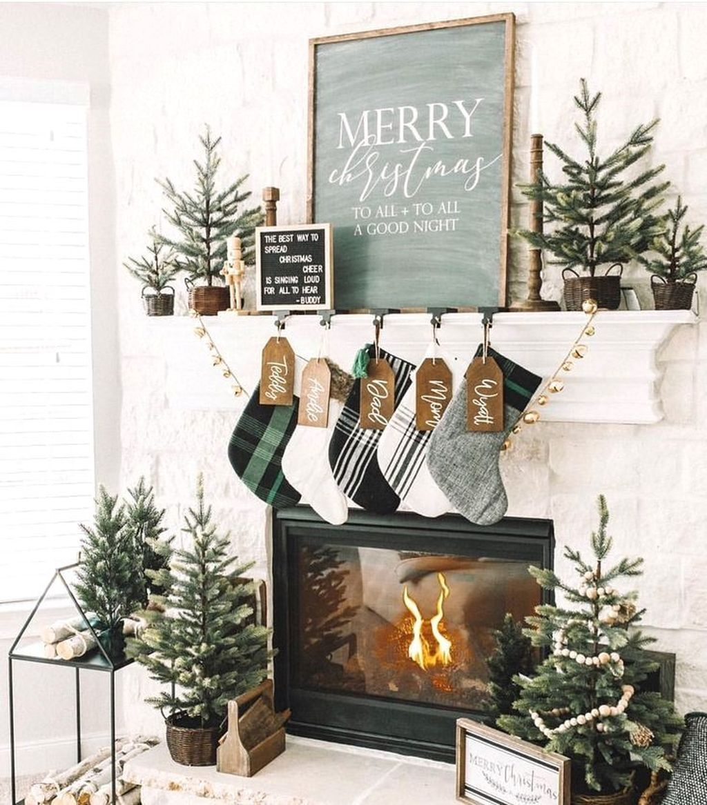 Nice Fireplace Decor Ideas Best For Wintertime 37