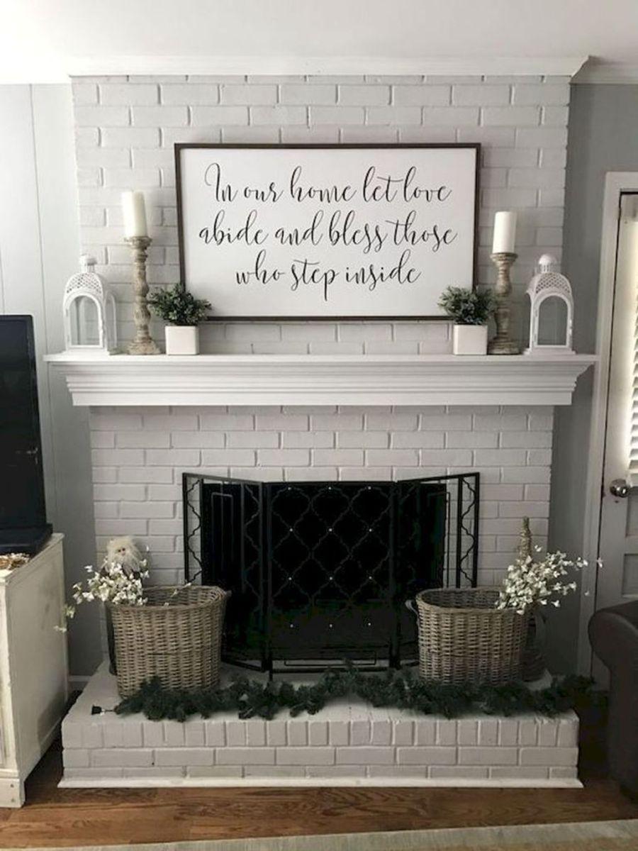 Nice Fireplace Decor Ideas Best For Wintertime 46