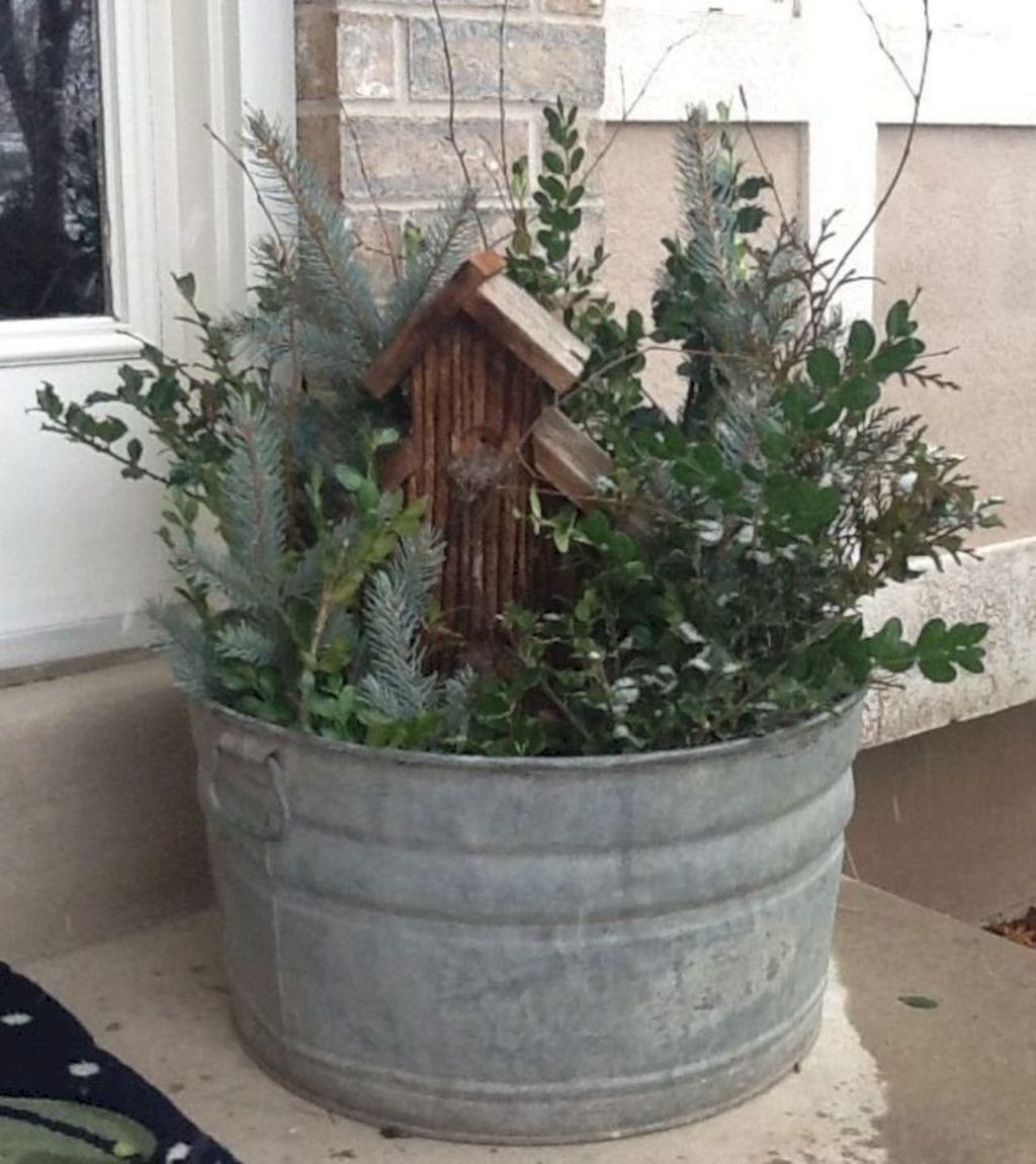 Perfect Outdoor Winter Planters Ideas 06