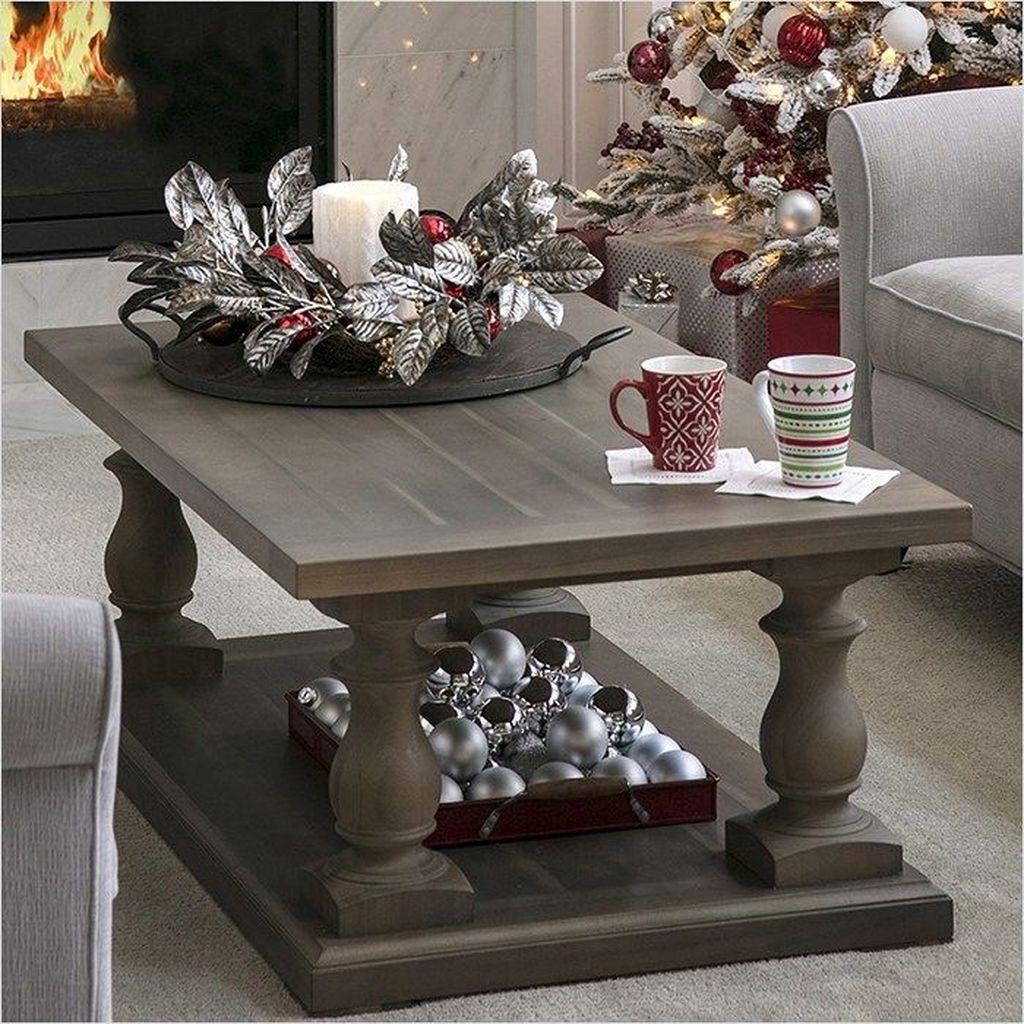 Popular Christmas Theme Coffee Table Decoration Ideas 23