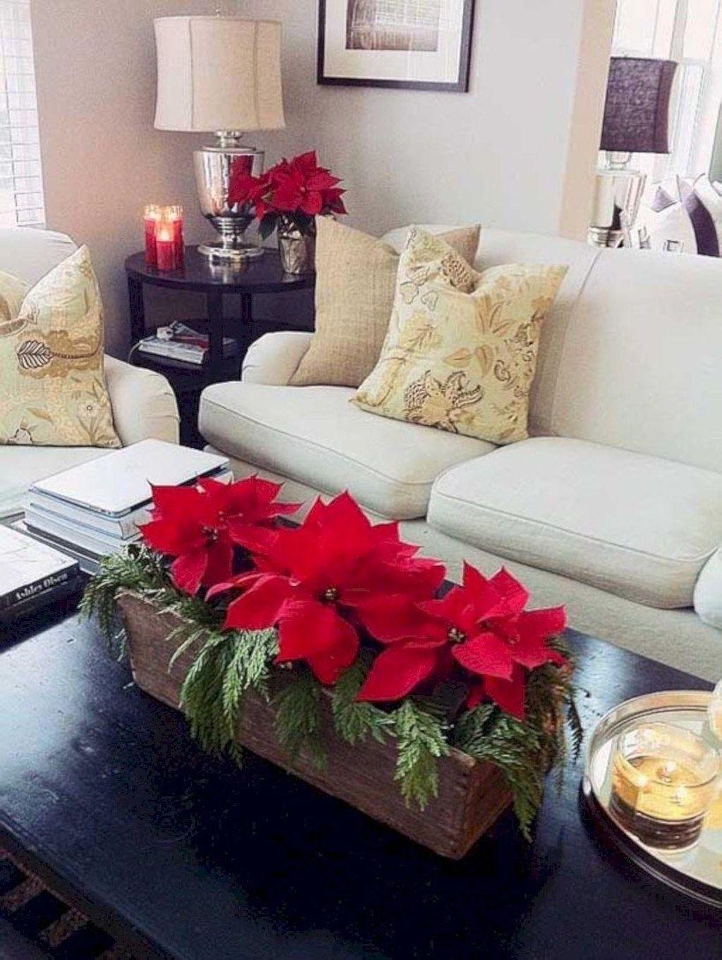 Popular Christmas Theme Coffee Table Decoration Ideas 28