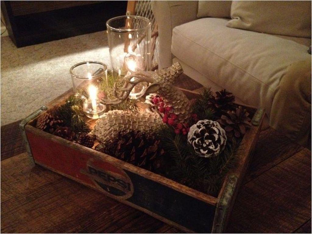 Popular Christmas Theme Coffee Table Decoration Ideas 36