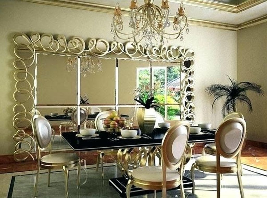 Amazing Wall Mirror Design Ideas For Dining Room Decor 07