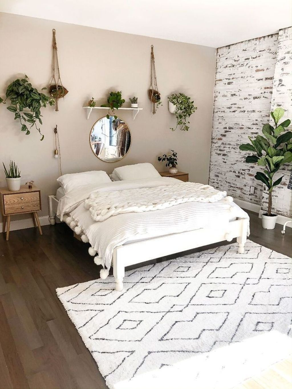 Lovely Bedroom Decor With Plant Ideas 26