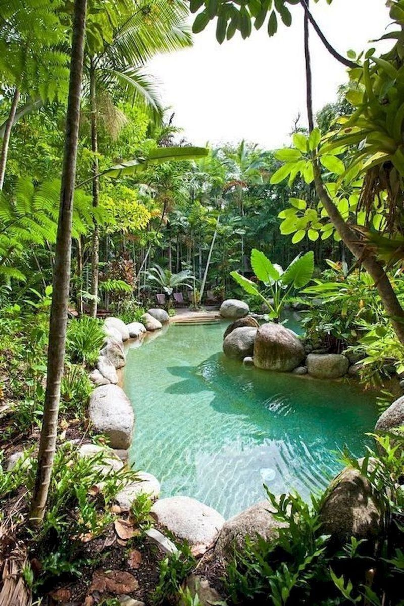 Lovely Swimming Pool Garden Ideas To Get Natural Accent 17