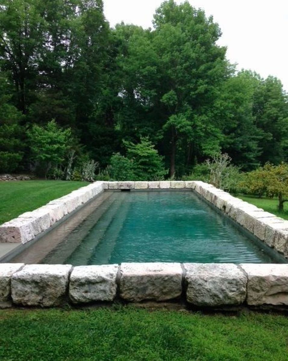 Lovely Swimming Pool Garden Ideas To Get Natural Accent 30