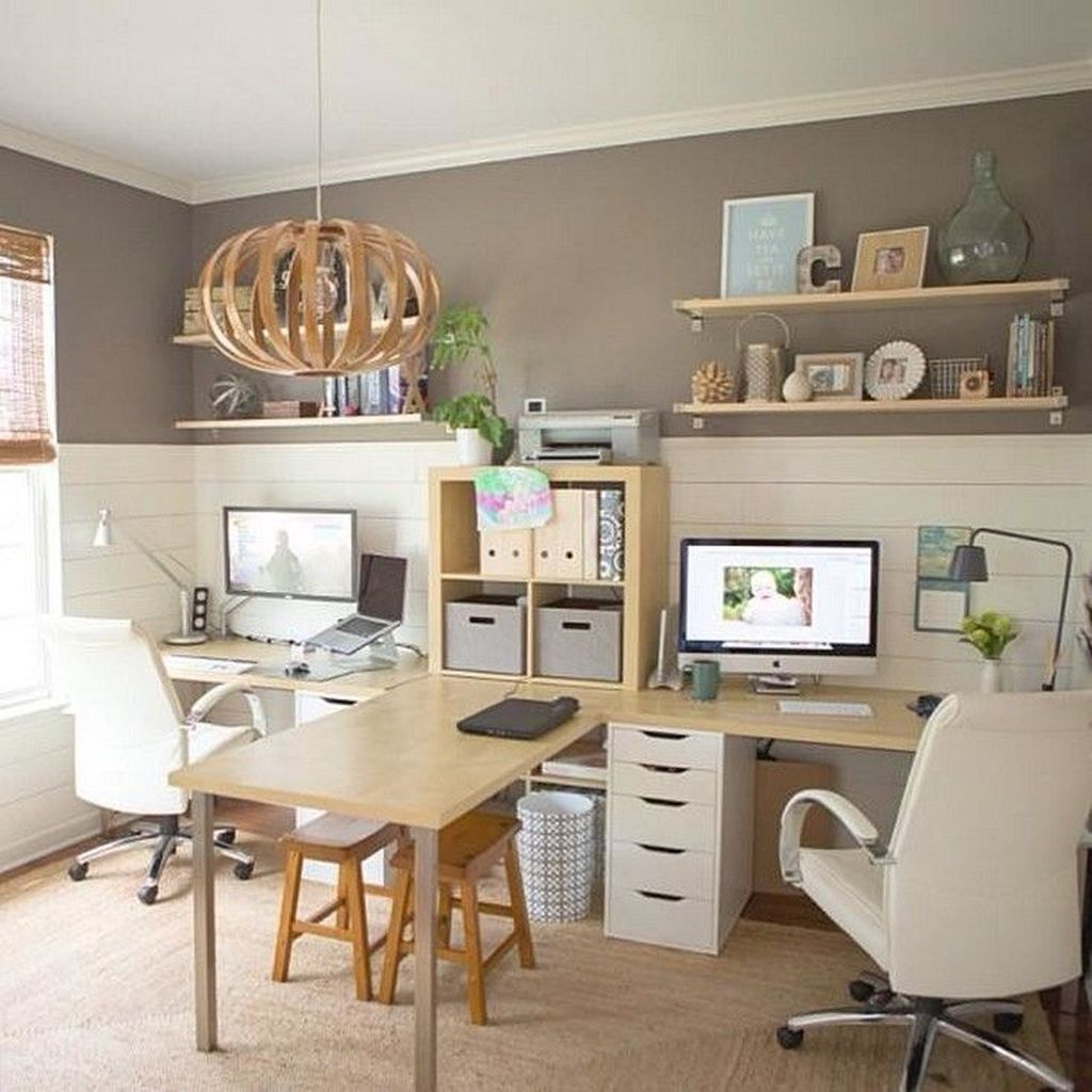 Nice Small Home Office Design Ideas 23