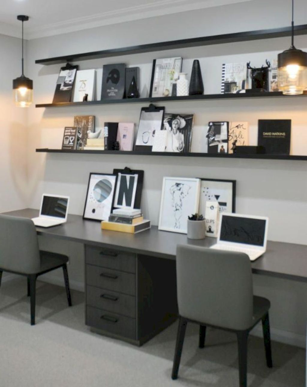 Nice Small Home Office Design Ideas 29