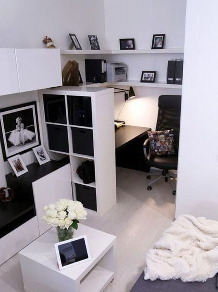 Nice Small Home Office Design Ideas 30