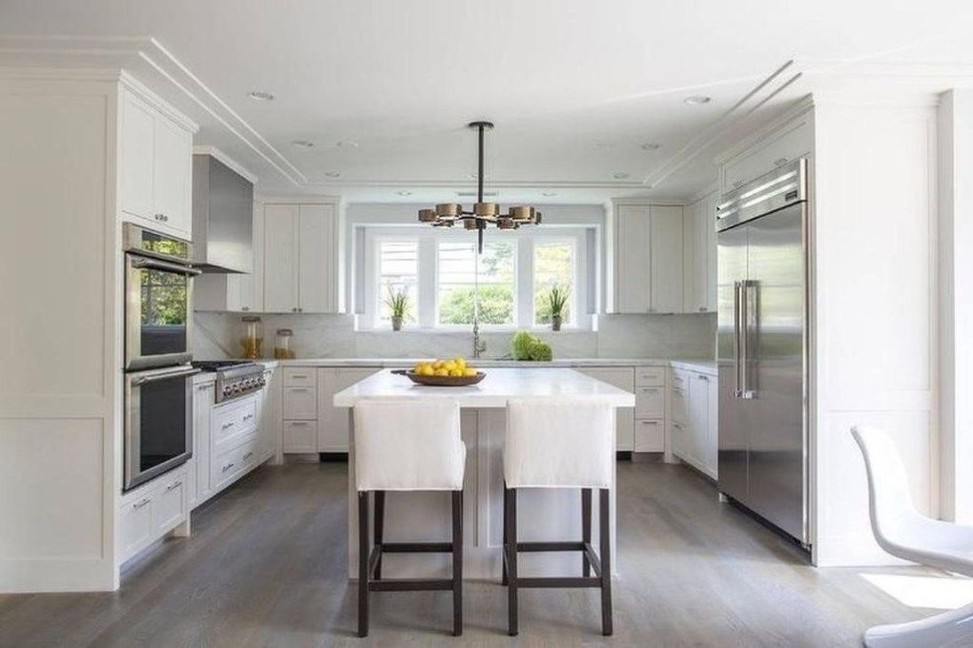 Popular U Shaped Kitchen Design Ideas 19