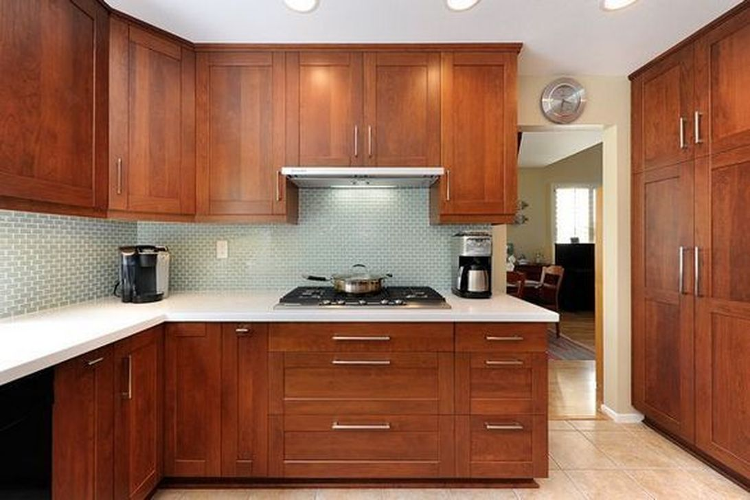 Popular Wooden Cabinets Design Ideas For Your Kitchen Decor 09