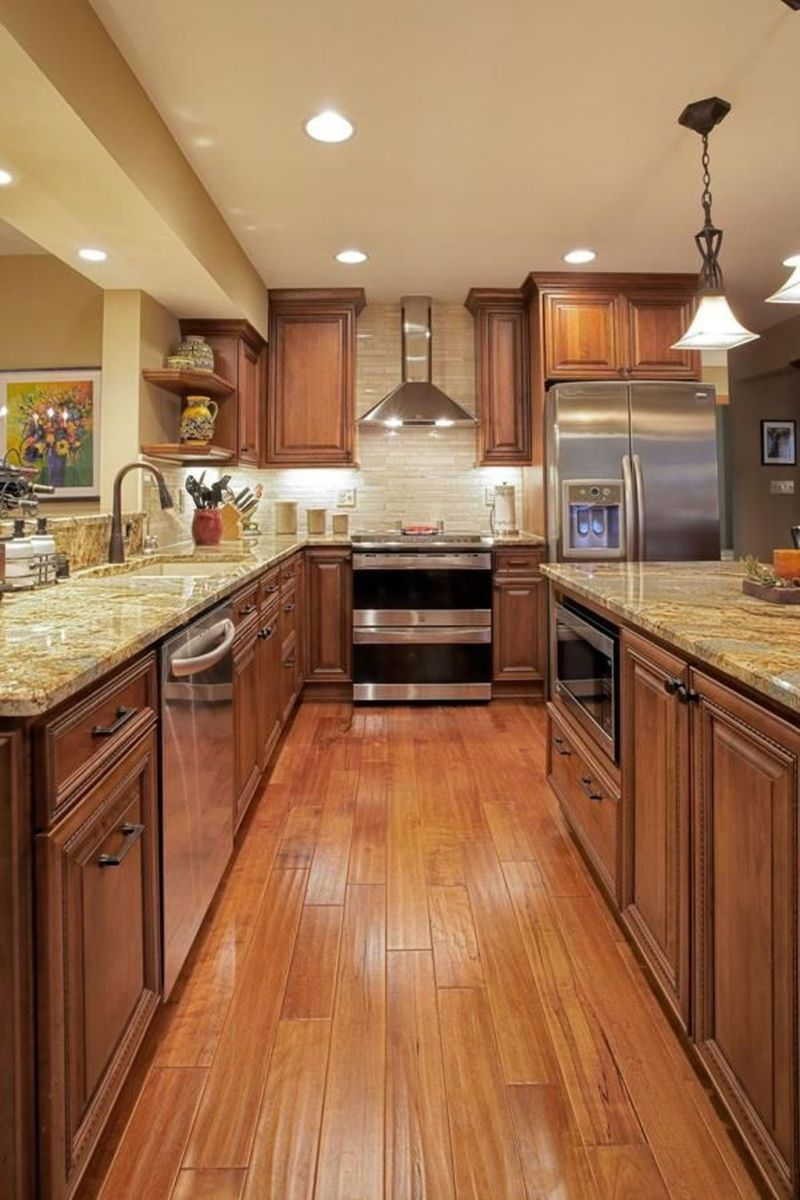 Popular Wooden Cabinets Design Ideas For Your Kitchen Decor 20