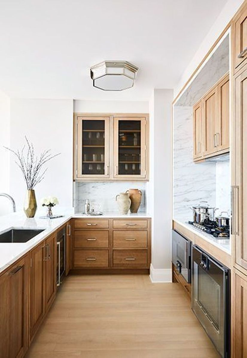 Popular Wooden Cabinets Design Ideas For Your Kitchen Decor 22