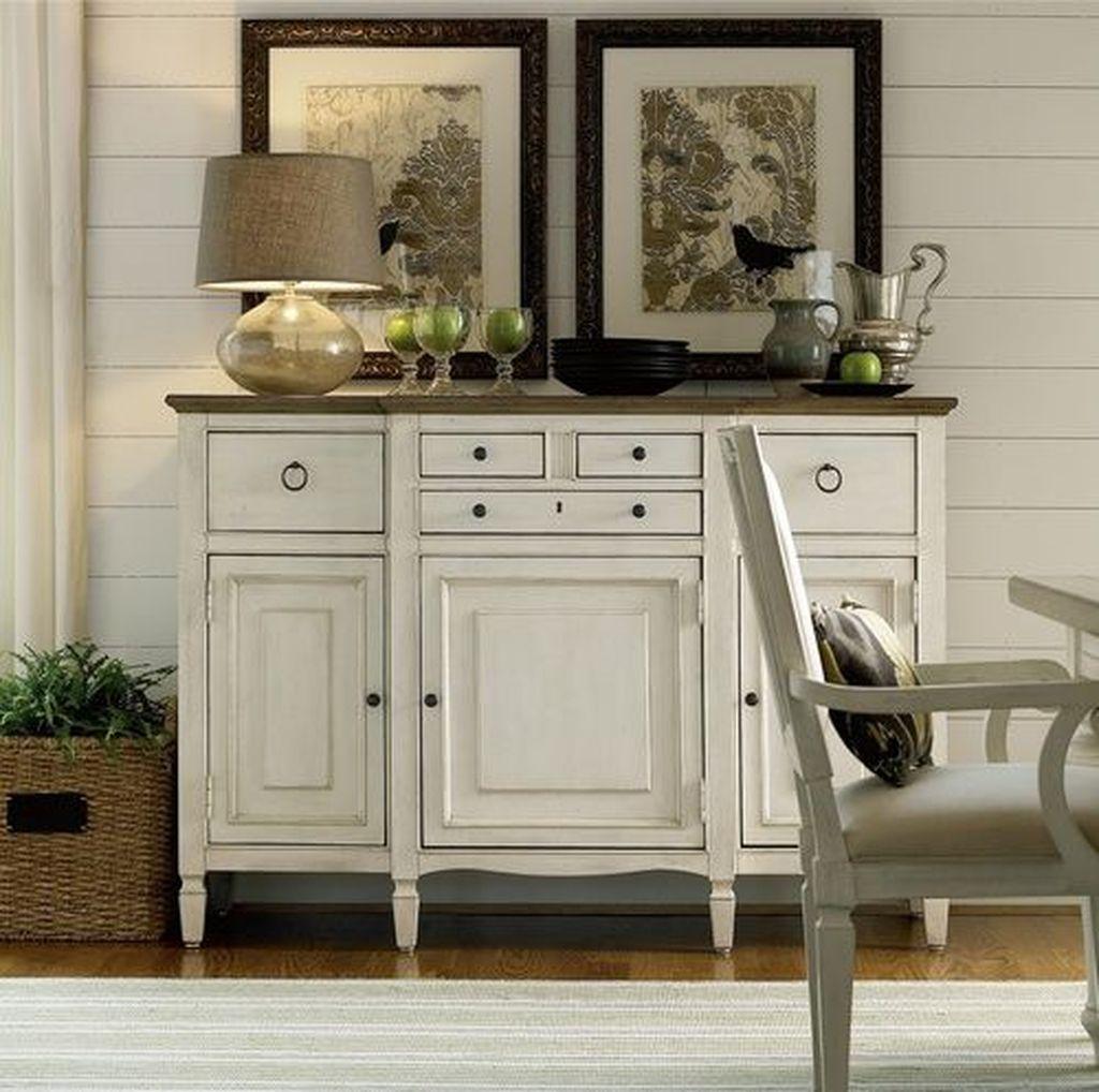 Inspiring Dining Room Buffet Decor Ideas 09