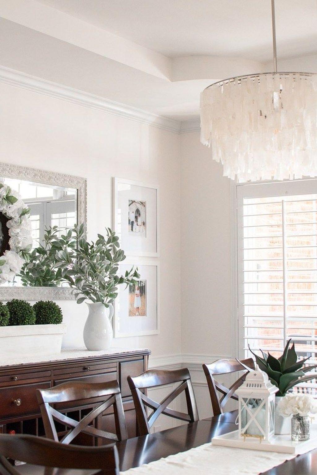 Inspiring Dining Room Buffet Decor Ideas 12
