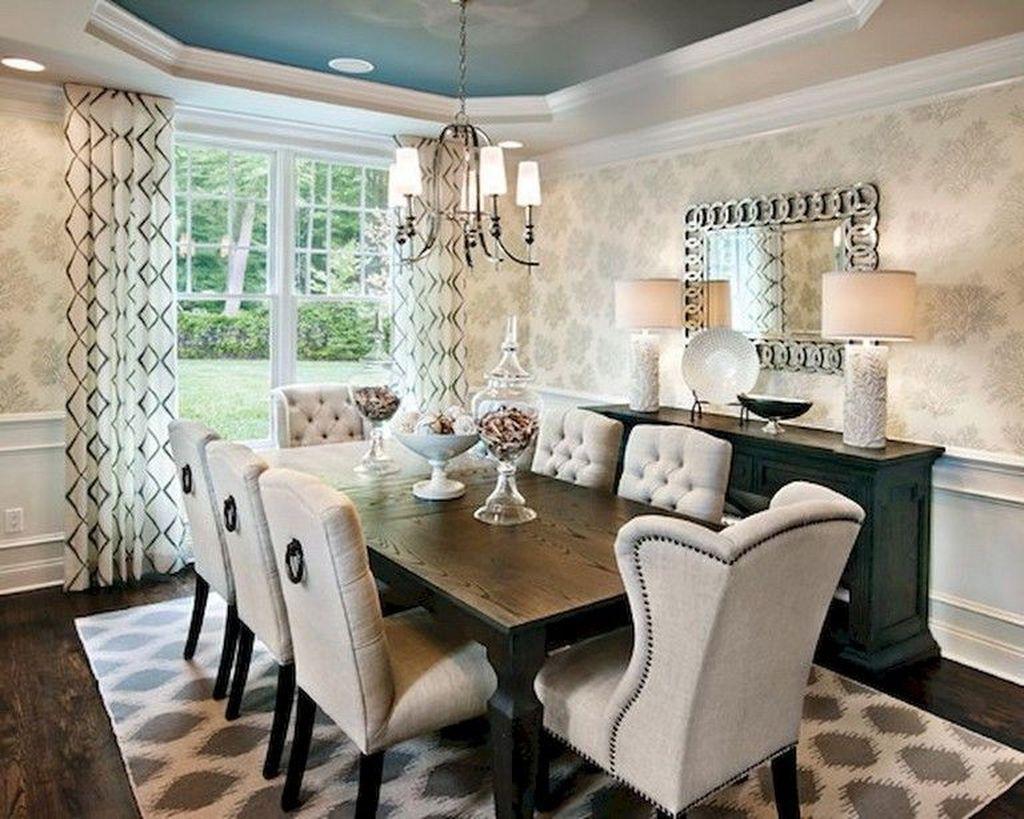 Inspiring Dining Room Buffet Decor Ideas 13