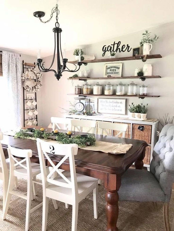 Inspiring Dining Room Buffet Decor Ideas 15