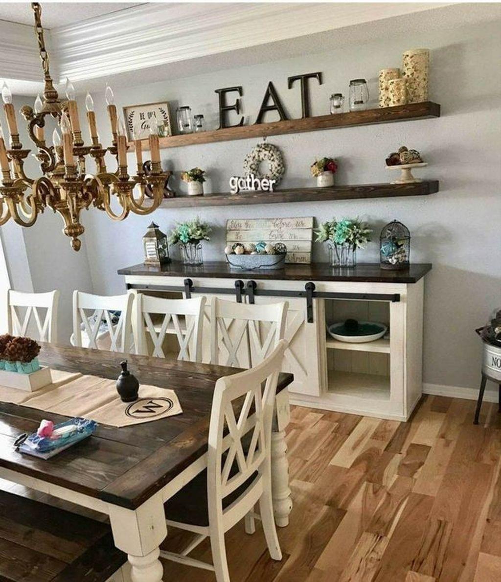 Inspiring Dining Room Buffet Decor Ideas 16