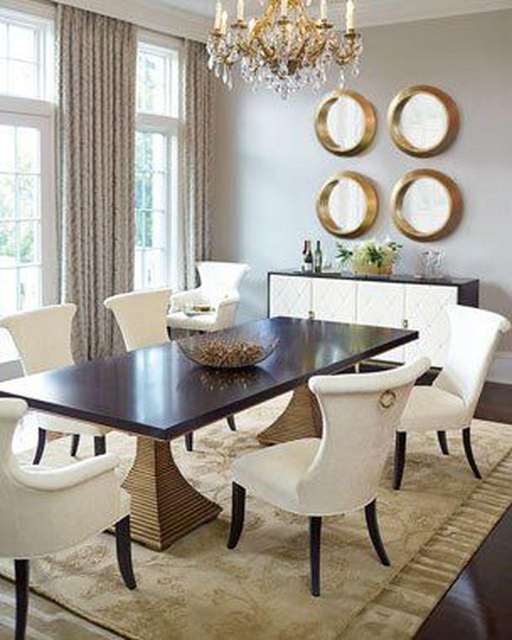 Inspiring Dining Room Buffet Decor Ideas 19