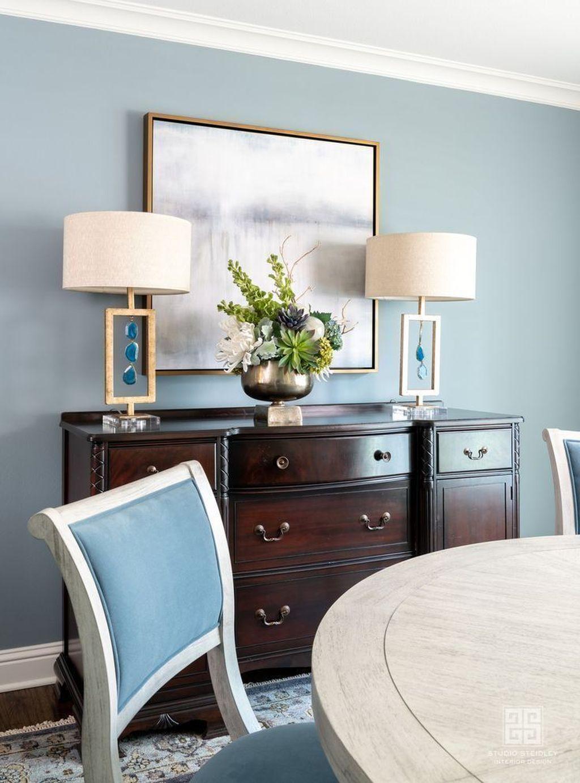 Inspiring Dining Room Buffet Decor Ideas 24