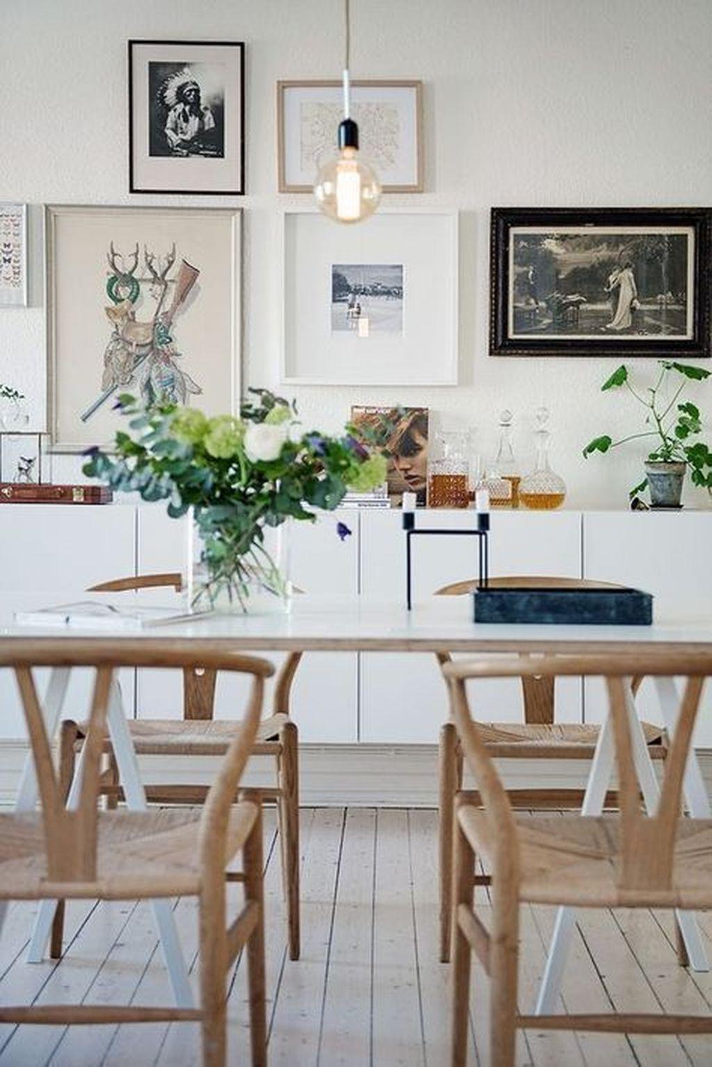 Inspiring Dining Room Buffet Decor Ideas 30