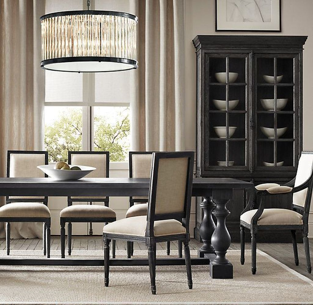 Nice Transitional Dining Room Design Ideas 04